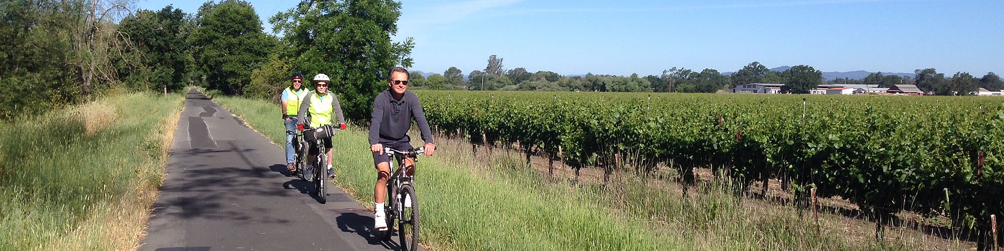 sonoma wine country bicycle paths