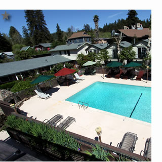 sonoma bed and breakfast, the woods hotel, guerneville - russian river valley bed and breakfast