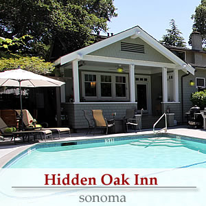 hidden oak inn sonoma california bed and breakfast inn