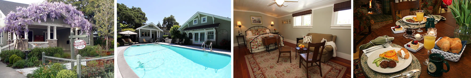 sonoma wine country inns - hidden oak bed and breakfast inn